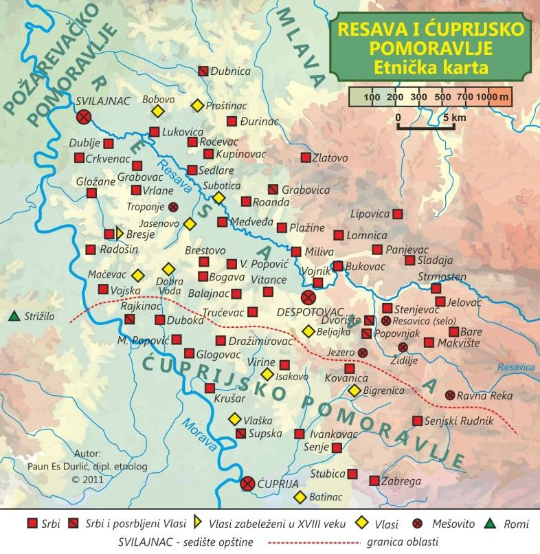 Vlaski Recnik Vorbariu Ruminesk Resava I Cuprija Mapa